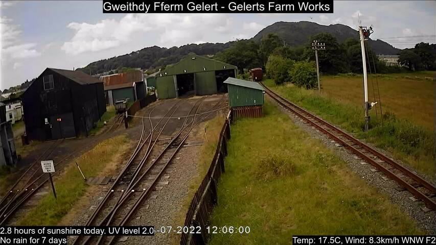 Welsh Highland Railway's Gelerts Farm Works